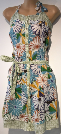 DESIGUAL FLORAL COTTON SUMMER SUN BUTTONED DRESS SIZES 8 & 14